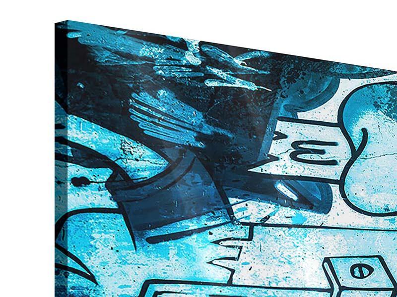 Panorama Acrylglasbild 3-teilig Graffiti