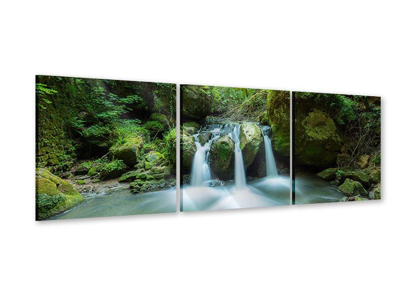 Panorama Acrylglasbild 3-teilig Wasserspiegelungen