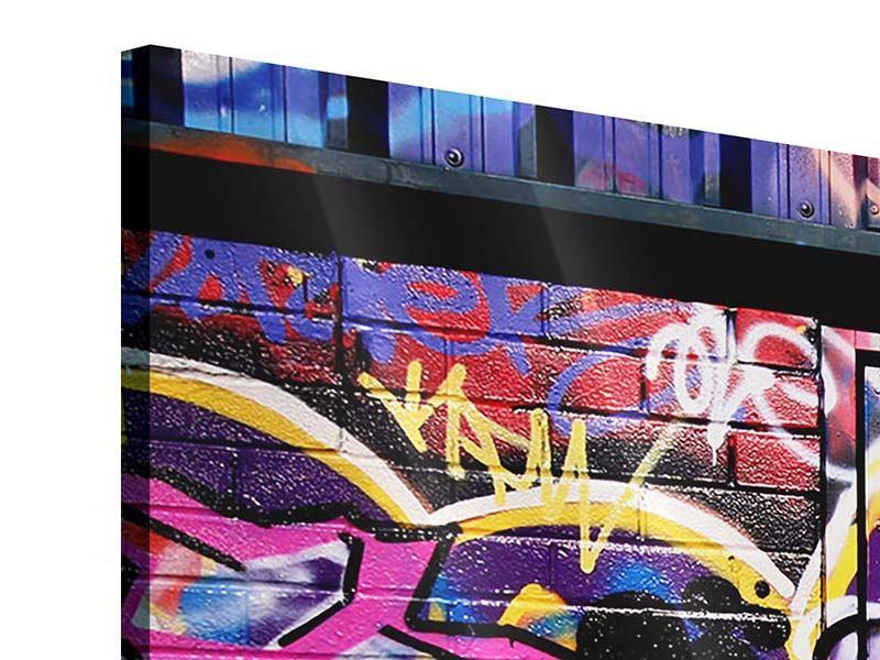 Panorama Acrylglasbild 3-teilig Graffiti Kunst
