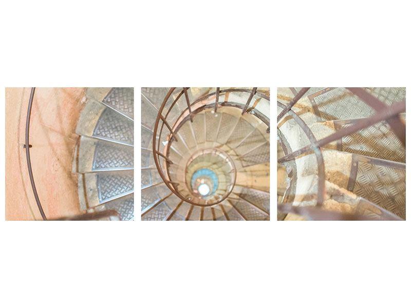 Panorama Acrylglasbild 3-teilig Wendeltreppe