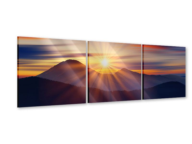 Panorama Acrylglasbild 3-teilig Märchenhafte Landschaft
