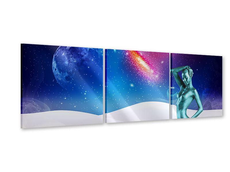 Panorama Acrylglasbild 3-teilig Mondgöttin