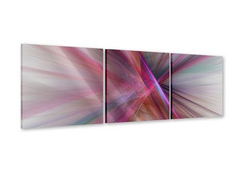Panorama Acrylglasbild 3-teilig Abstraktes Lichterleuchten