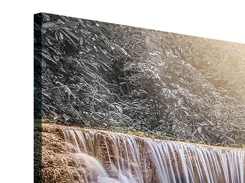 Panorama Acrylglasbild 3-teilig Glücklicher Wasserfall