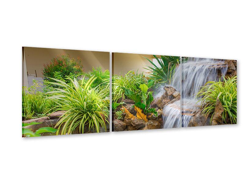 Panorama Acrylglasbild 3-teilig Paradiesgarten