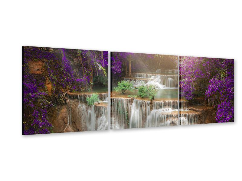 Panorama Acrylglasbild 3-teilig Garten Eden