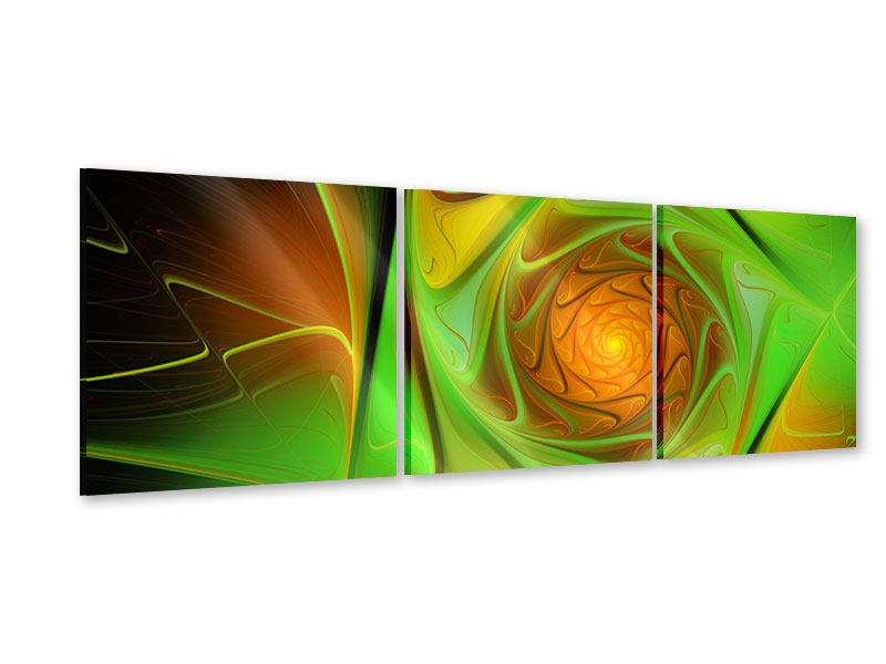 Panorama Acrylglasbild 3-teilig Abstraktionen
