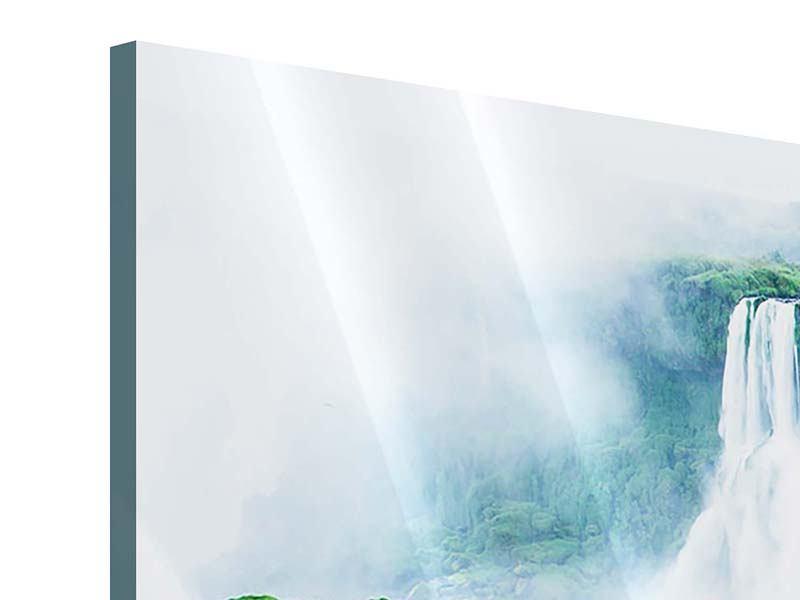 Panorama Acrylglasbild 3-teilig Wasserfälle