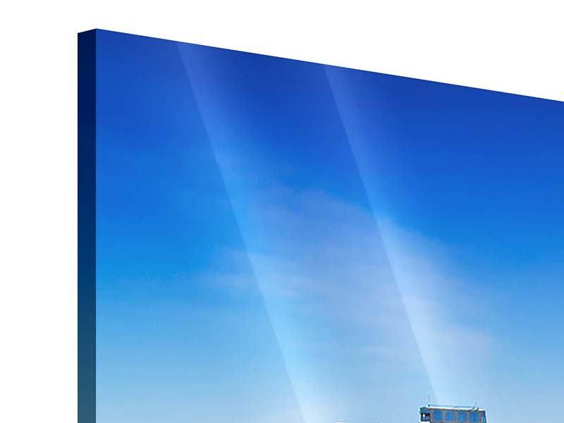Panorama Acrylglasbild 3-teilig Skyline Oslo