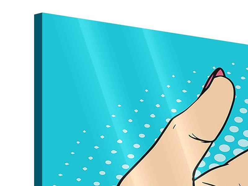 Panorama Acrylglasbild 3-teilig Pop Art Nails