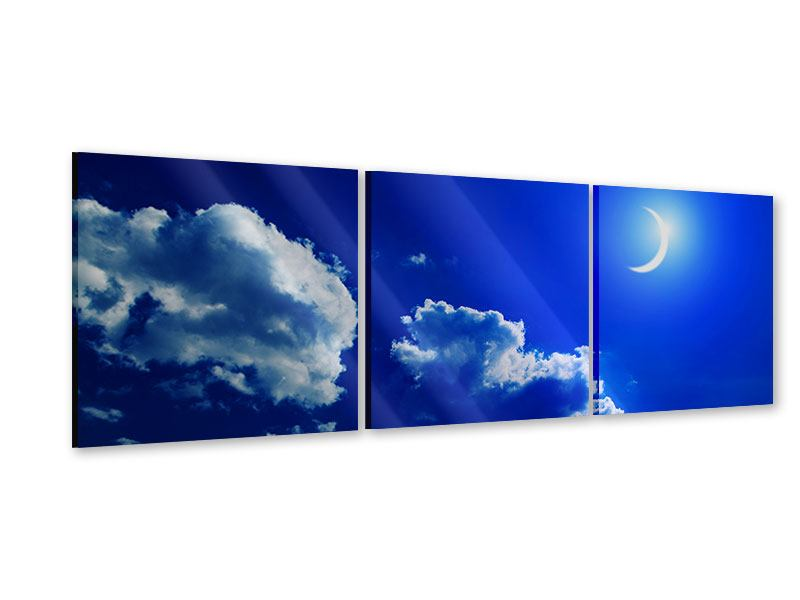 Panorama Acrylglasbild 3-teilig Der Mond