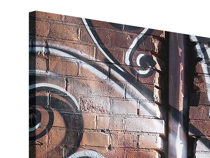 Panorama Acrylglasbild 3-teilig Graffiti Mauer