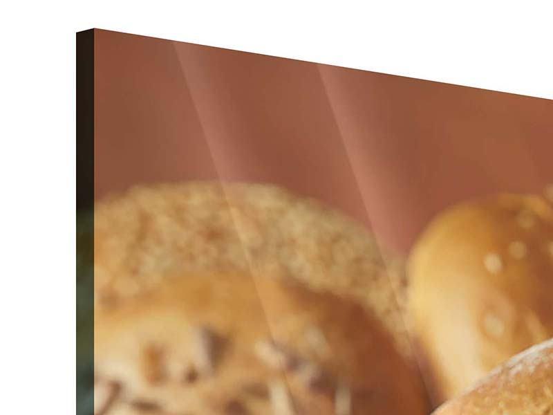 Panorama Acrylglasbild 3-teilig Brotzeit
