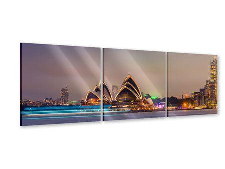 Panorama Acrylglasbild 3-teilig Opera House