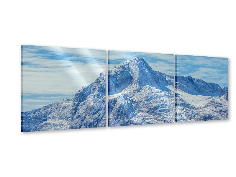 Panorama Acrylglasbild 3-teilig Friedliche Bergstimmung