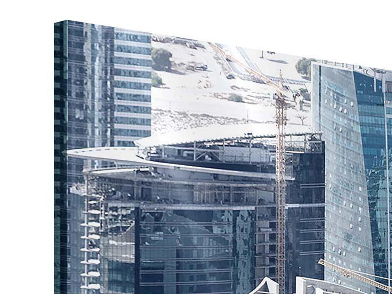 Panorama Acrylglasbild 3-teilig Die Wolkenkratzer von Dubai