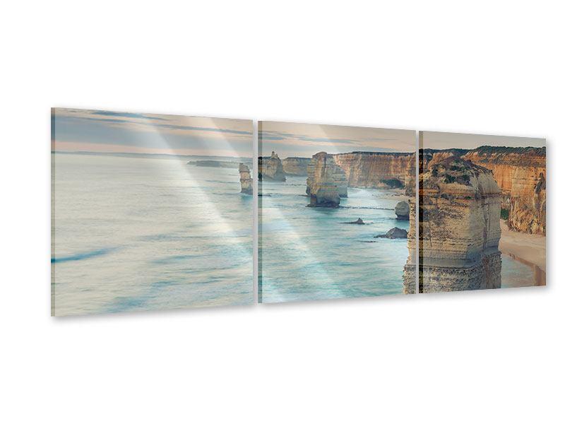 Panorama Acrylglasbild 3-teilig Felsklippen