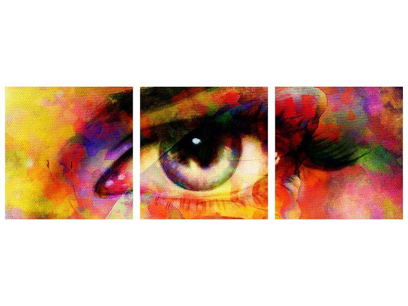 Panorama Acrylglasbild 3-teilig Das Auge