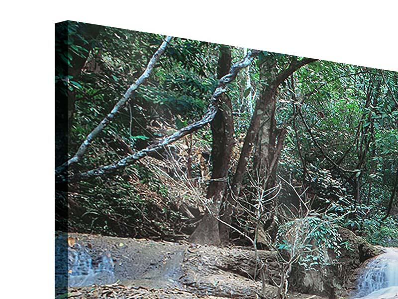 Panorama Acrylglasbild 3-teilig Ein Wasserfall