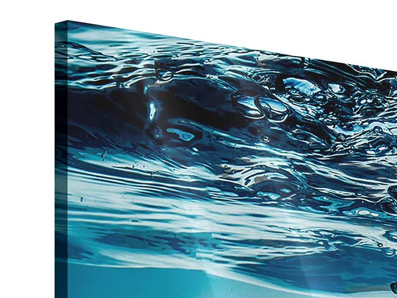 Panorama Acrylglasbild 3-teilig Eiswürfel-Quadro