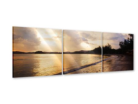Panorama Acrylglasbild 3-teilig Das Ufer