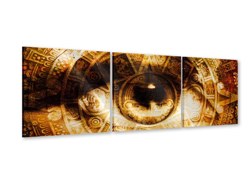 Panorama Acrylglasbild 3-teilig Fraktales Auge