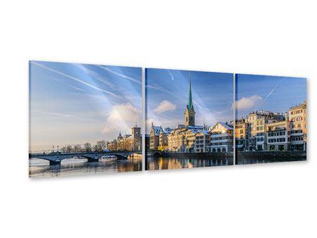 Panorama Acrylglasbild 3-teilig Zürich