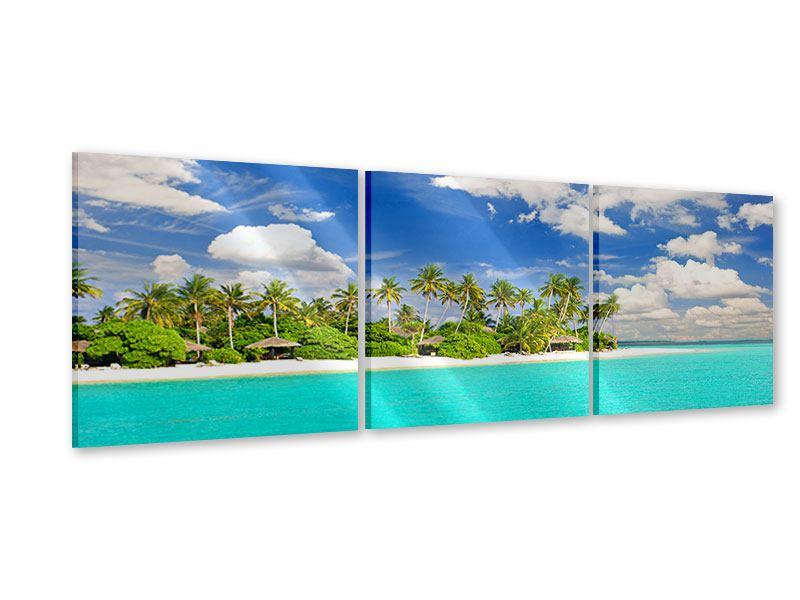 Panorama Acrylglasbild 3-teilig Meine Insel
