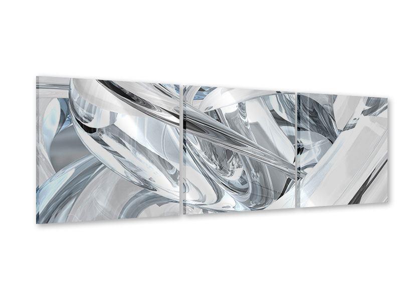 Panorama Acrylglasbild 3-teilig Abstrakte Glasbahnen