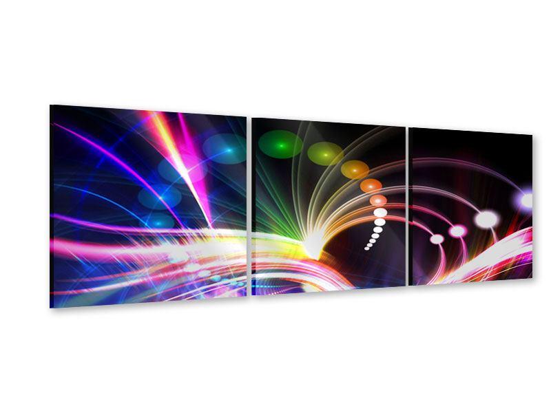 Panorama Acrylglasbild 3-teilig Abstrakte Lichtreflexe