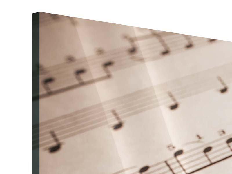 Panorama Acrylglasbild 3-teilig Das Notenblatt