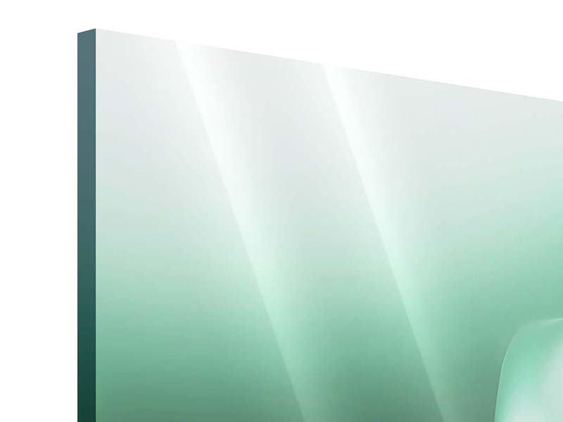 Panorama Acrylglasbild 3-teilig Abstrakt Tuchfühlung