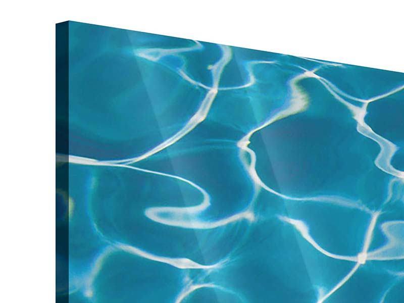 Panorama Acrylglasbild 3-teilig Pool