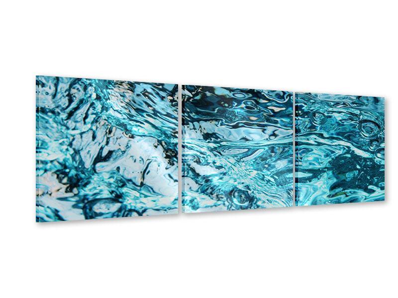 Panorama Acrylglasbild 3-teilig Schönheit Wasser
