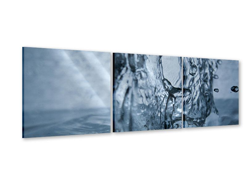 Panorama Acrylglasbild 3-teilig Wasserdynamik