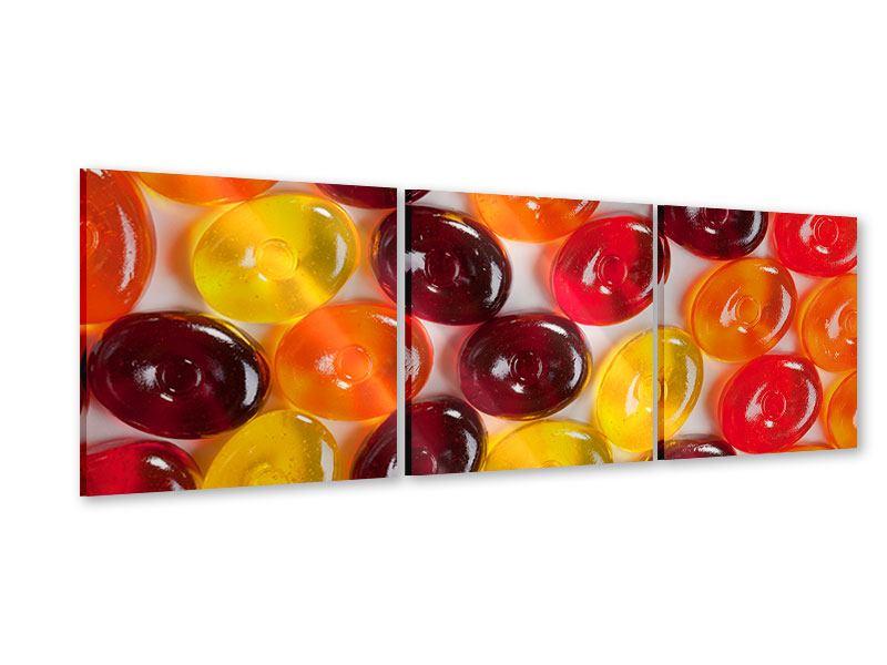 Panorama Acrylglasbild 3-teilig Bonbons