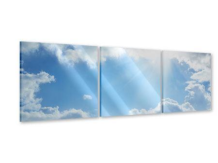 Panorama Acrylglasbild 3-teilig Himmelshoffnung