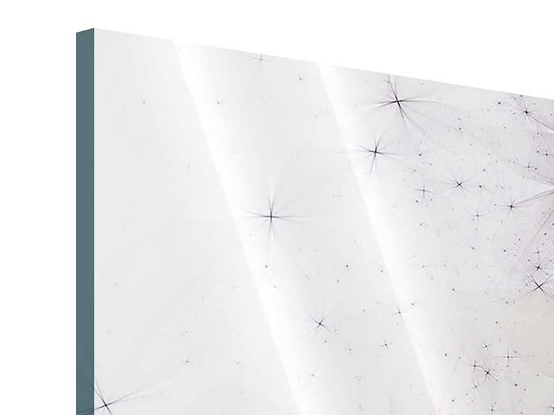 Panorama Acrylglasbild 3-teilig Abstrakte Blumen