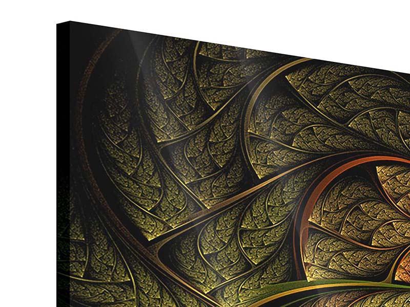 Panorama Acrylglasbild 3-teilig Abstraktes Blumenmuster