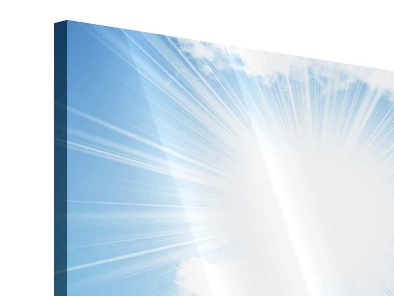 Panorama Acrylglasbild 3-teilig Am Himmel
