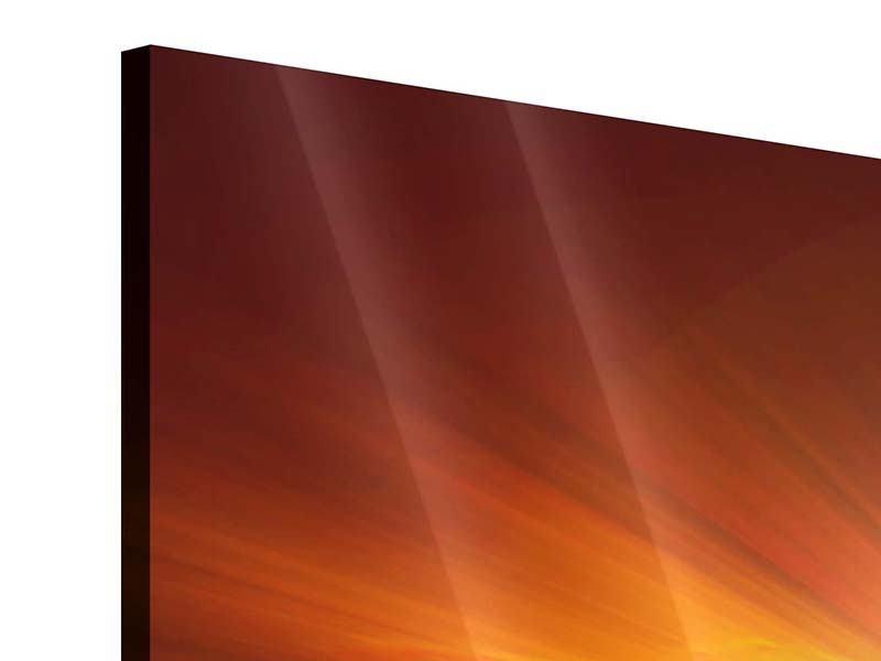 Panorama Acrylglasbild 3-teilig Glühender Sonnenuntergang