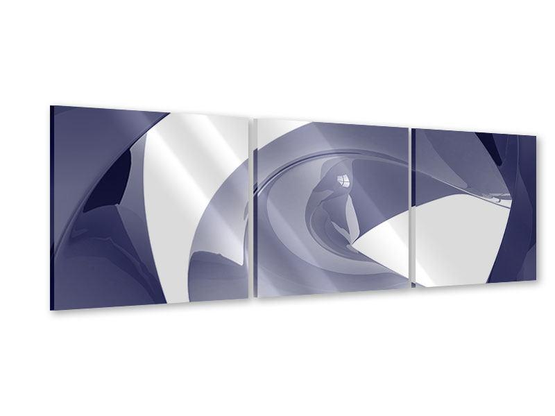 Panorama Acrylglasbild 3-teilig Abstrakte Schwingungen