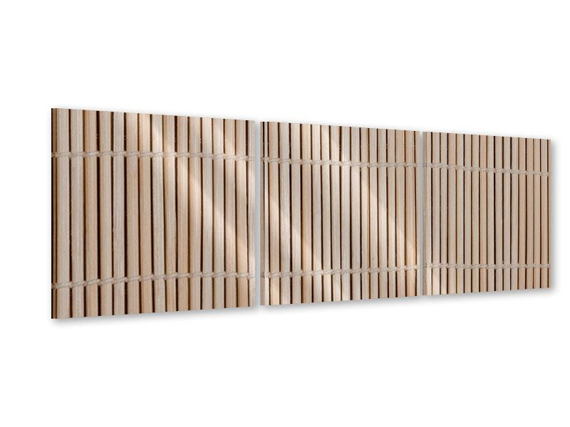 Panorama Acrylglasbild 3-teilig Lucky Bamboo