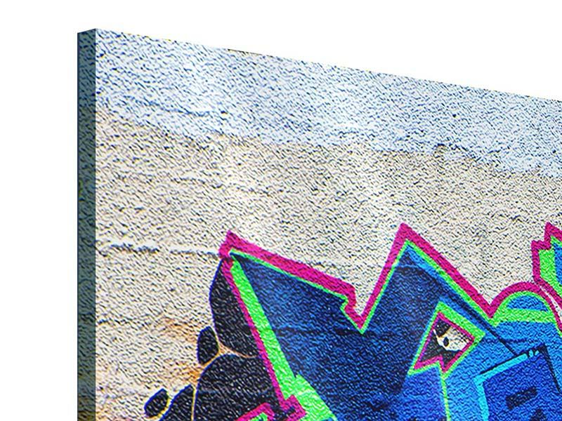 Panorama Acrylglasbild 3-teilig Graffiti NYC