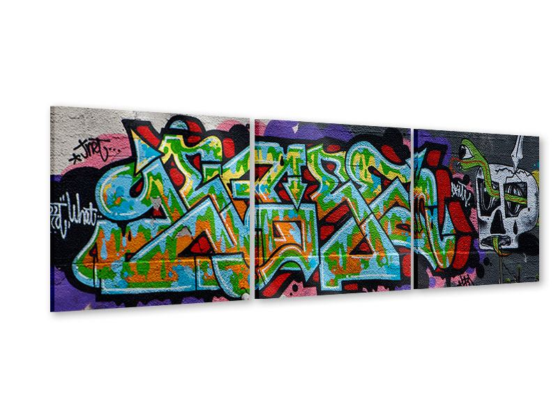Panorama Acrylglasbild 3-teilig Graffiti in New York