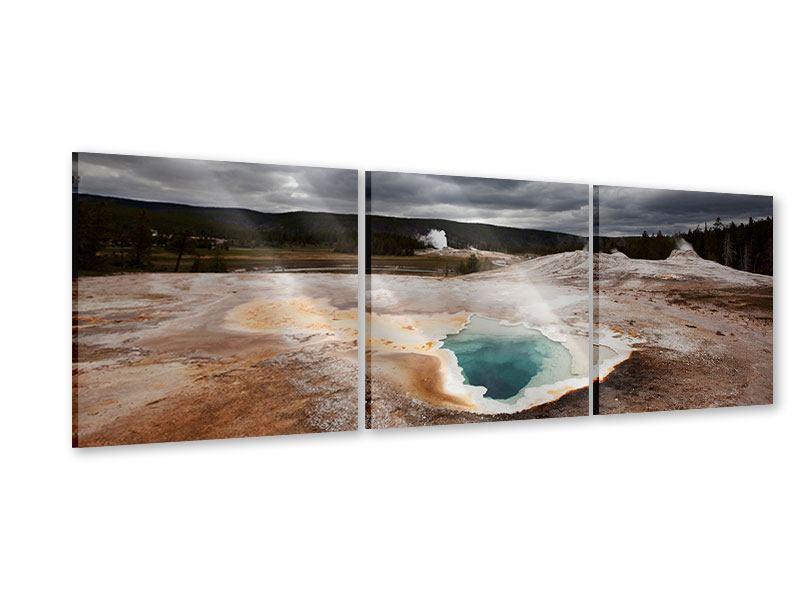 Panorama Acrylglasbild 3-teilig Vulkan