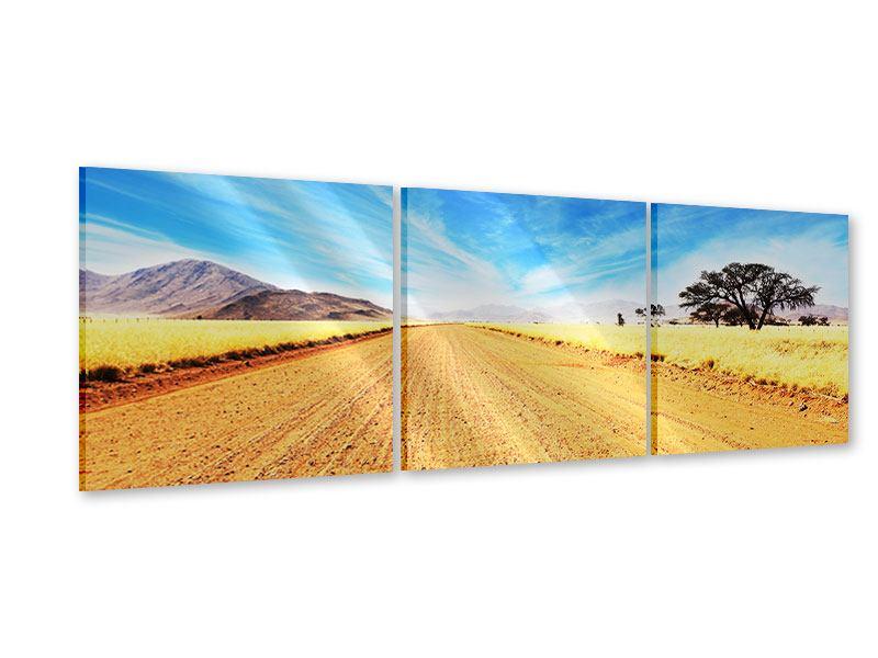 Panorama Acrylglasbild 3-teilig Eine Landschaft in Afrika