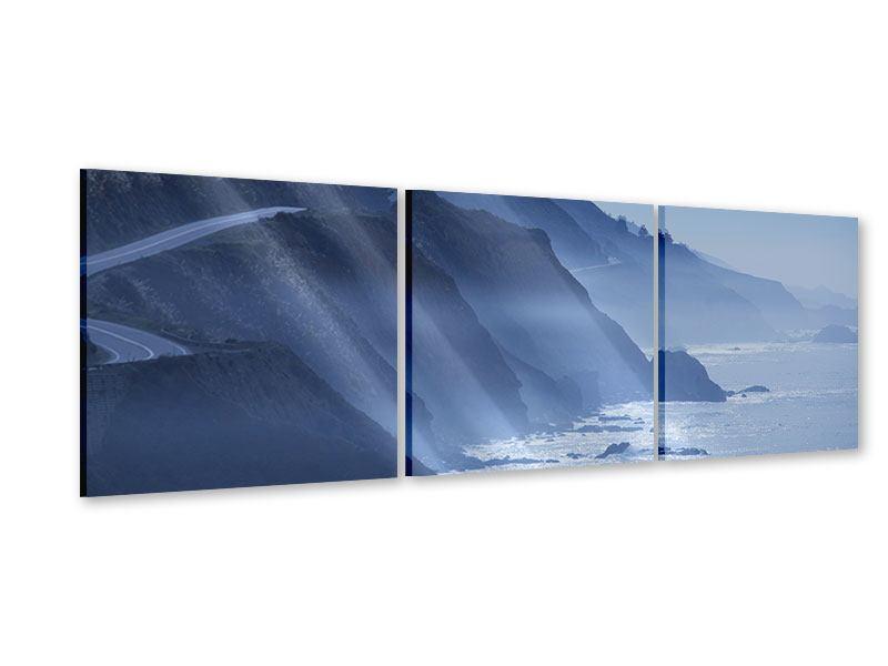 Panorama Acrylglasbild 3-teilig Bewegung im Wasser