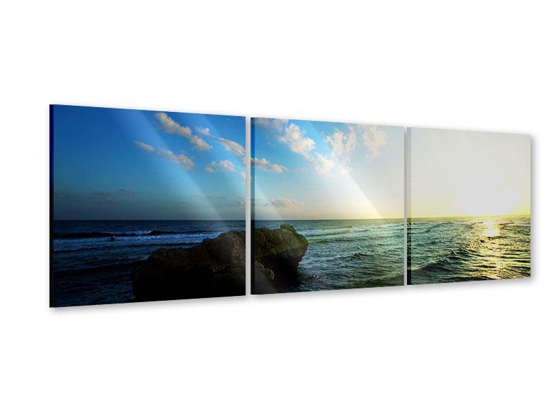 Panorama Acrylglasbild 3-teilig Die See