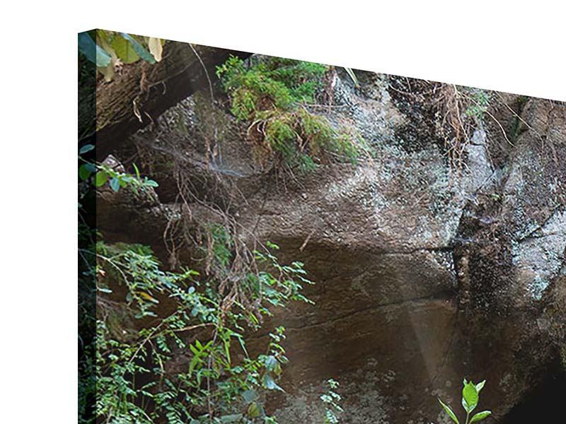 Panorama Acrylglasbild 3-teilig Die blaue Lagune